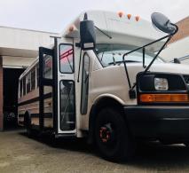 Amerikaanse schoolbus voor elk evenement